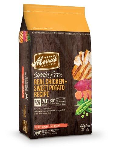 Merrick Grain Free 25-Pound Real Chicken And Sweet Potato Dog Food, 1 Bag