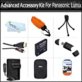 Advanced Accessory Bundle Kit For Panasonic Lumix DMC-TS4, DMC-TS3, DMC-TS2 Waterproof Digital Camera Includes Panasonic DMW-BCF10 Replacement Extended (1200 Mah) Battery + Rapid Charger + USB Card Reader + Hard Case + Floating Strap + MICRO HDMI Cable +