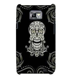 PRINTVISA Abstract Skull Art Case Cover for Samsung Galaxy S2 I9100