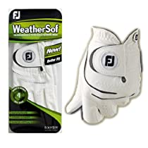 FootJoy WeatherSof Golf Glove White Right Hand Mens Extra Large