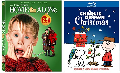 Home Alone 1 & A Charlie Brown Christmas 2-Blu-ray Christmas Bundle