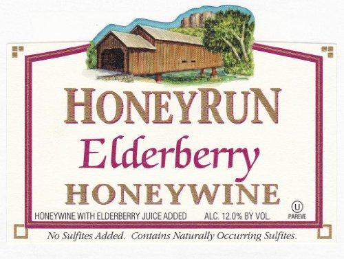 Nv Honeyrun Winery Elderberry Honeywine 750 Ml
