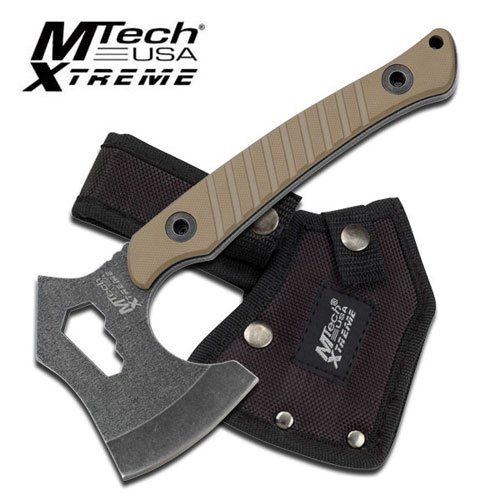 Mtech Xtreme Mx-Axe10Tn 8.25 Axe Tan G10 Handle