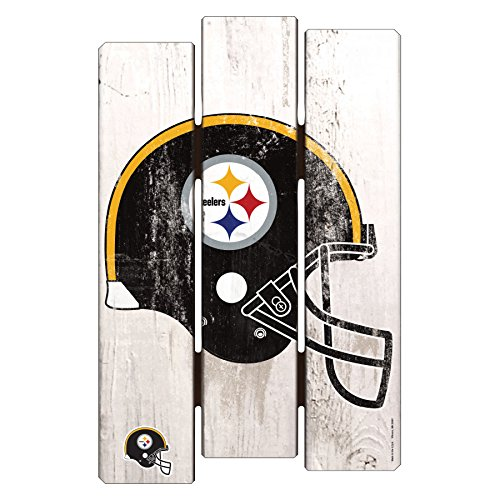 NFL Pittsburgh Steelers Wooden Fence Sign, 11 x 17
