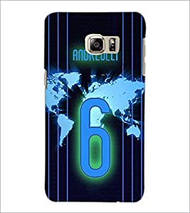 PrintDhaba Number 6 D-3914 Back Case Cover for SAMSUNG GALAXY NOTE 5 EDGE (Multi-Coloured)