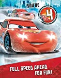 Disney Cars You'Re 4 Today Large 4Th Birthday Card With Badge