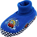 "Little Tikes ""My First Racer"" Blue Toddler Sock Top Slippers 5/6-9/10"