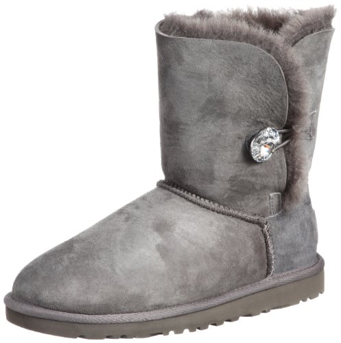 UGG Bailey Button Bling - Stivali donna, Grigio (Grey), 38