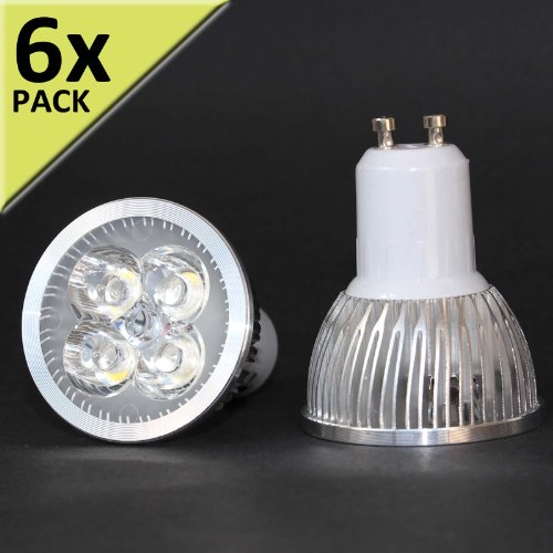 6 x led 12w gu10 220v blanco natural 4500k high power edison chip bombilla foco - Halogenos led bajo consumo ...