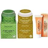 Sattvik Organics Smooth And Radiant Skin Combo- (Mint Magic 100gm, Gold Mask 100gm, Saffron Care 12gm)