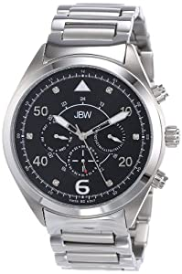 JBW Men's J6283A Multi-Function 6 Diamonds Metal Watch