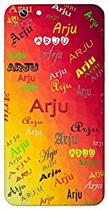 Arju (Wish) Name & Sign Printed All over customize & Personalized!! Protective back cover for your Smart Phone : Moto E-2 ( 2nd Gen )