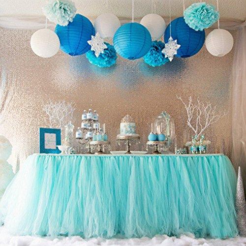 "OLizeeâ""¢ Romantic Wedding Party Birthday Supply Dessert Station Gauze Decoration(Style 4)"