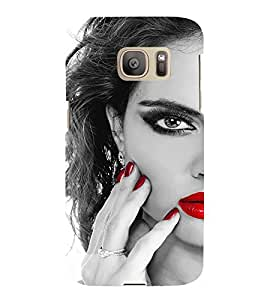 EPICCASE Lady with cool nailpaint Mobile Back Case Cover For Samsung Galaxy S7 (Designer Case)