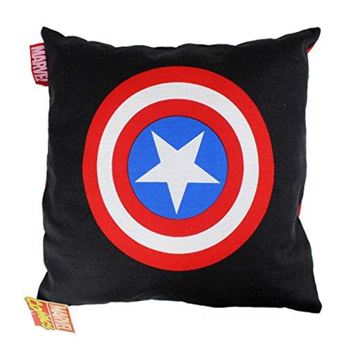 Captain America-Cuscino decorativo con federa-Classic Logo Nero