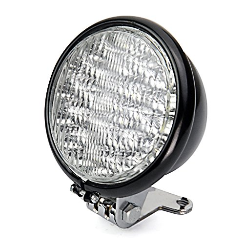 """Custom Black 5"""" Led Front Head Light With Bracket For Harley Cruiser Softail Dyna Motorcycle"""