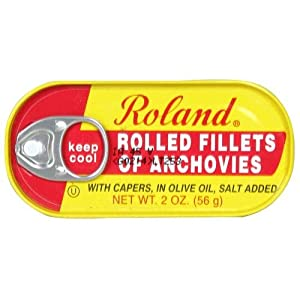 Roland, Anchovies Rolled, 2.00 OZ (Pack of 10)