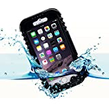 iPhone 6 Plus Waterproof Case, iThroughTM Waterproof, Dust Proof, Snow Proof, Shock Proof Case with Touched Transparent Screen Protector, Waterproof Protection up to 20ft, Heavy Duty Protective Carrying Cover Case for iPhone 6 Plus 5.5 inch (Black)