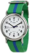 Timex Unisex T2P1439J 8220Weekender Green and Blue Nylon
