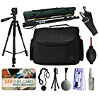 Professional Full Size 60 Inch Tripod + 67 Heavy Duty Photo / Video Monopod + Large Padded Case + Dust Cleaning Kit + $50 Gift Card for Prints for Nikon DF D7200 D7100 D7000 D5500 D5300 D5200 D5100 D5000 D3300 D3200 D3100 D3000 D300S D90 D60 DSLR SLR Digital Camera