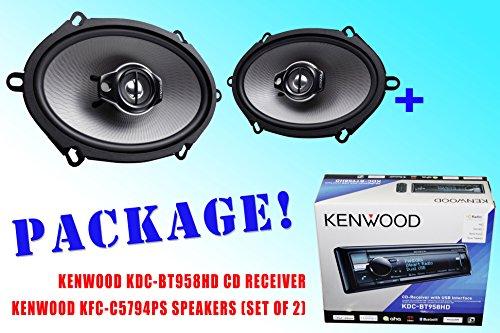 Package ! Kenwood Kdc-Bt958Hd Cd-Receiver + Kenwood Kfc-C5794Ps Car Speakers