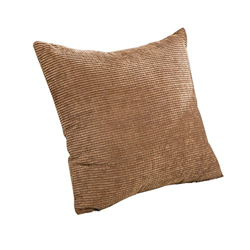 Thg Gigh Quality Corduroy Pillow Case Couch Pillow Cases Non-Core(Coffee) front-515373