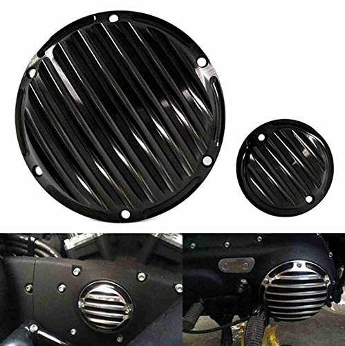 Black CNC Aluminum Derby & Timing Timer Cover For Harley Sportster IRON 883 1200 XL 72 48 Nightster 2004-2013 (Sportster Timer Cover compare prices)
