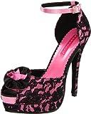 Pleaser Women's Bella-17/HPSA-BLO Ankle-Strap Pump