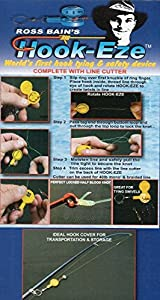 1 HOOK-EZE Twin Pack - CHOOSE YOUR COLOR - Fishing Safety Tying Device + Line cutter and more! from Hook-Eze Pty Ltd