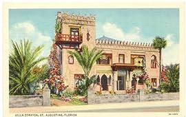 1940s Vintage Postcard Villa Zorayda - St. Augustine Florida