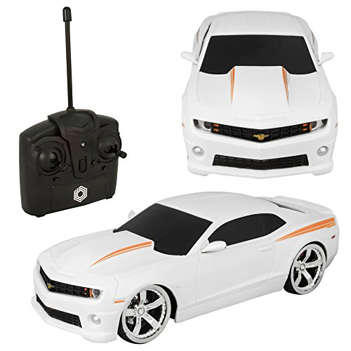 Braha Chevrolet Camaro 1:24 R/C Car White (Kids Camaro Car compare prices)