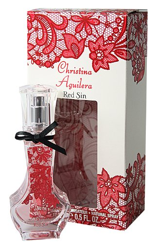 Christina Aguilera, Red Sin, Eau de Parfum da donna, con vaporizzatore spray, 15 ml