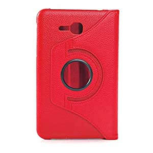 Gioiabazar 360°Rotating PU Leather Stand Case For Samsung Galaxy Tab 3 Lite 7.0 SM-T110 Red