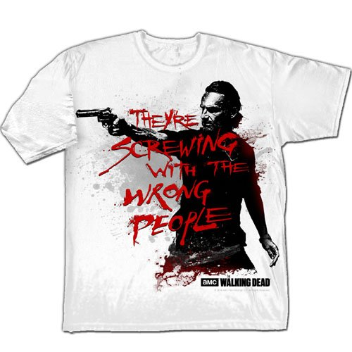 The Walking Dead Walkers Patrol-T-shirt  Uomo    bianco Large