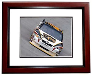 Dale Jarrett Autographed Hand Signed UPS Nascar 8x10 Photo - MAHOGANY CUSTOM FRAME by Real Deal Memorabilia