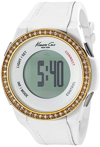 Kenneth Cole New York Unisex 10023872KC Connect- Tecnología pantalla digital blanco de cuarzo japonés reloj