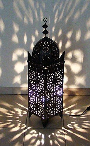 Lampe photophore marocain lectrifi 95cm en fer forg lanterne - Lanterne orientale pas cher ...