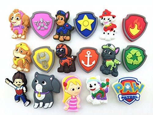 New Role 17 Paw Patrol (Puppy Power) Everest, Shoe Charms for Fit Croc Shoes & Bracelet Wristband - 1