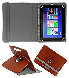 ACM ROTATING 360° LEATHER FLIP CASE FOR SWIPE ULTIMATE TABLET TABLET STAND COVER HOLDER BROWN