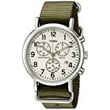 Timex Men's TW2P714009J Weekender Collection Round Watch with Green Band