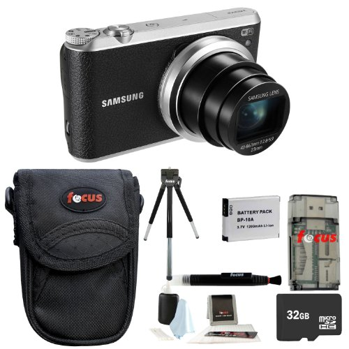 Samsung WB350F Smart Digital Camera (Black) + 32GB Micro SDHC Memory Card + All in One High Speed Card Reader + Standard Large Digital Camera Case + Accessory Kit Review