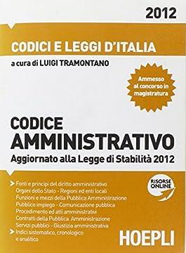 Cover Codice amministrativo 2012