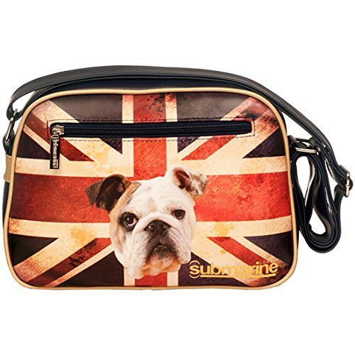 Borsa SUBMARINE London Bulldog bandiera Inglese