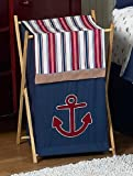 Baby/Kids Clothes Laundry Hamper for Sweet Jojo Designs for Nautical Nights Bedding Sets