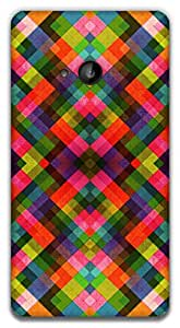 The Racoon Grip printed designer hard back mobile phone case cover for Microsoft Lumia 535. (Retro Chec)