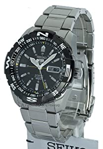 Seiko Men's 5 Sports Men's Black Dial Stainless Steel Automatic Snzj07J1 [Watch]