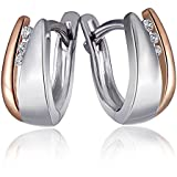 Goldmaid Damen-Creolen 925 Sterling Silber weiß Diamanten 6 Diamanten 0,04 ct. Sd O5230S