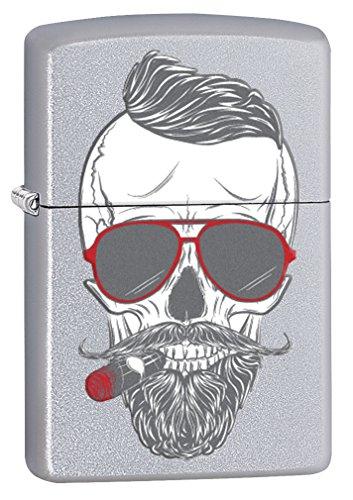 Zippo Lighter: Hipster Cigar Smoker - Satin Chrome (Bradford Smoker compare prices)