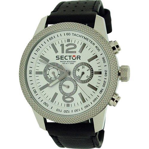 Sector R3251102004 - Orologio da polso da uomo, cinturino in pelle colore nero