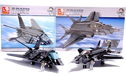 F-35-Lightning-II-Fighter-Jet-F-117-Stealth-Bomber-Plane-Military-Air-Force-Lego-Compatible-Blocks-Bundle